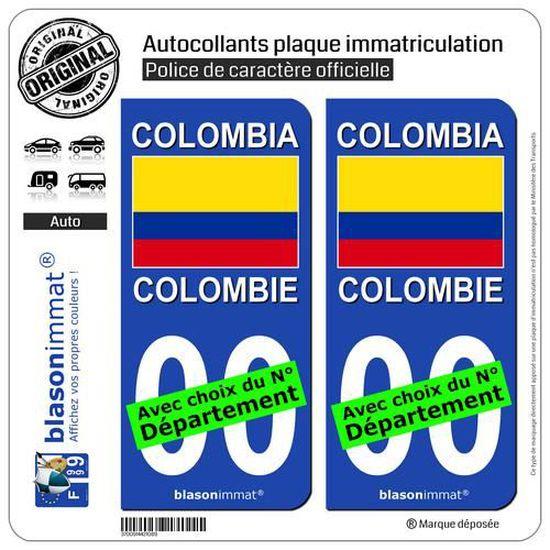 2 Stickers autocollants plaque dimmatriculation OM