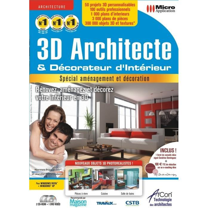 3d architecte decorateur d 39 interieur logiciel achat. Black Bedroom Furniture Sets. Home Design Ideas
