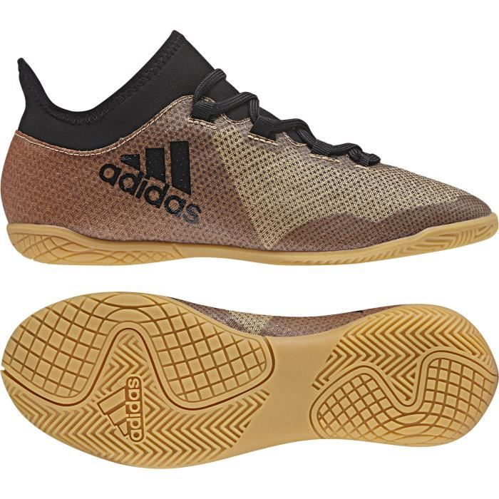 Chaussures de football junior adidas X Tango 18.3 Indoor - gris/noir/rouge solaire - 34