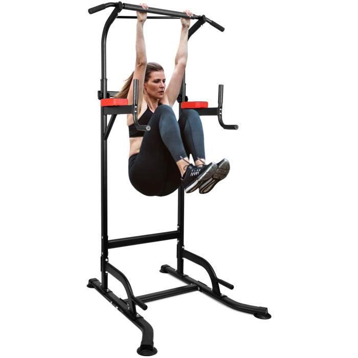INTEY Chaise Romaine Power Tower, Tour de Musculation Multifonctions Barre de Traction, Entraîneur pour Abdominaux, Dos et Triceps,