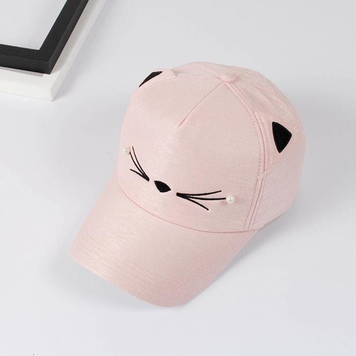 Casquette femme chapeau printemps mode marée perle sauvage mignon étudiant oreilles de chat visière casquette de baseball kaki
