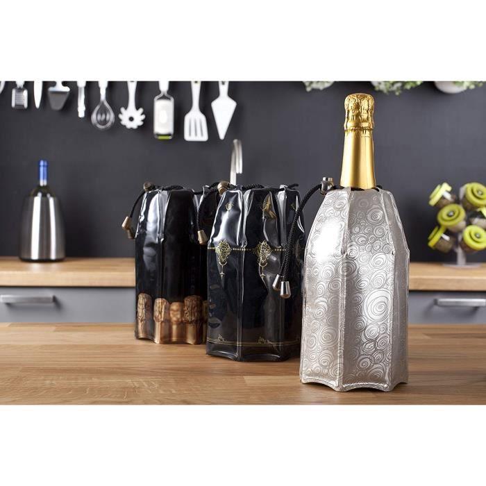 Vacu Vin 38855626 Refroidisseur à Champagne Décor Platinum Beige-Doré