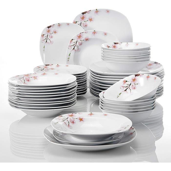 série Annie, Service de Table, 48 pièces, pour 12 Personnes, en Porcelaine[470]