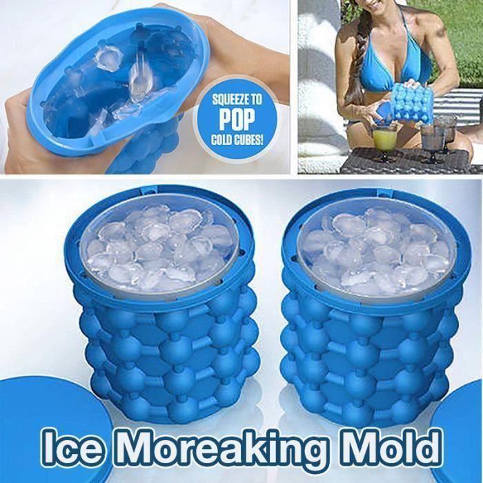 BH Nouveau Desigh Bac à Glaçon ice cube maker genie Silicone Moules Seau à Glace Ic - BHSWM824A0826