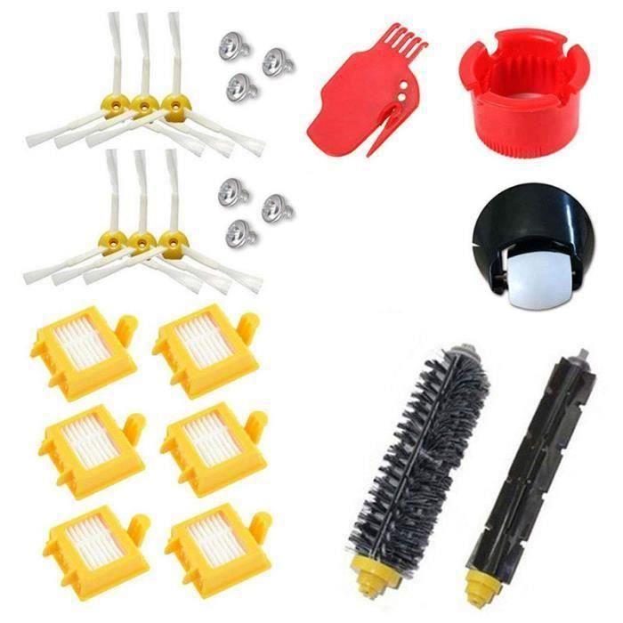 Kit de filtres Hepa pour roue roulante pour iRobot Roomba série 700 760 770 780 790, brosse à poils A53863