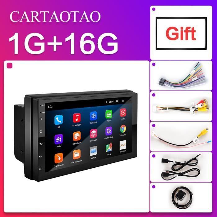 2 din 7 pouces lecteur autoradio 2GB + 32GB Android 8.1 GPS navigation Bluetooth voiture vidéo stéréo lecteur - Type 9213-1G