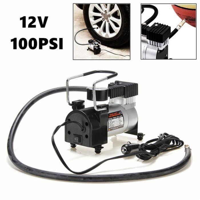 Pompe Électrique gonfleur de pneu Outil De Soins De Voiture Compresseur à air portable Lourd 12 V 100PSI L51127