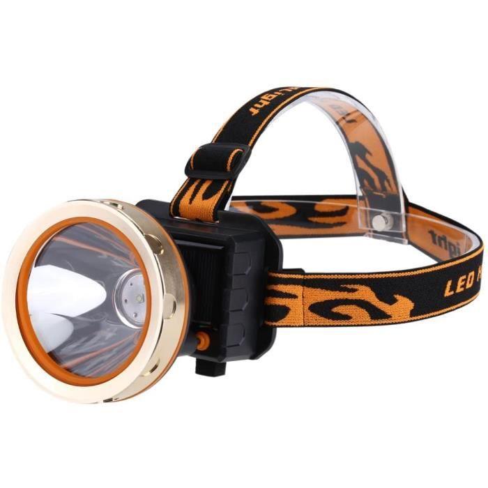 Lampe Frontale Puissante LED solaire Rechargeable 3 Modes avec Cacircble USB Strong Impermeacuteable Antichoc Lampe de poche pour