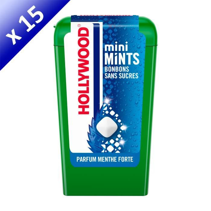[LOT DE 15] Hollywood Mini Mints Bonbons parfum Menthe Forte 12,5g