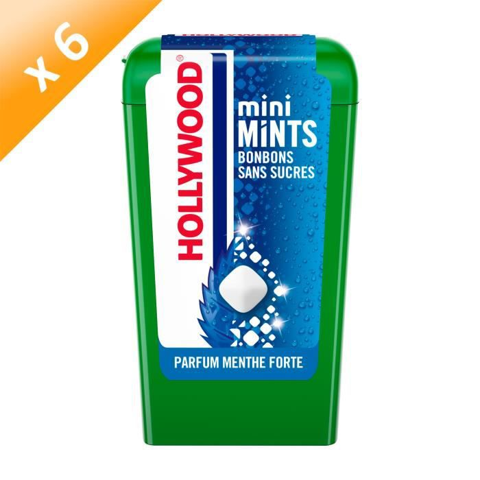 Hollywood Mini Mints Bonbons parfum Menthe Forte 12,5g - LOT DE 6