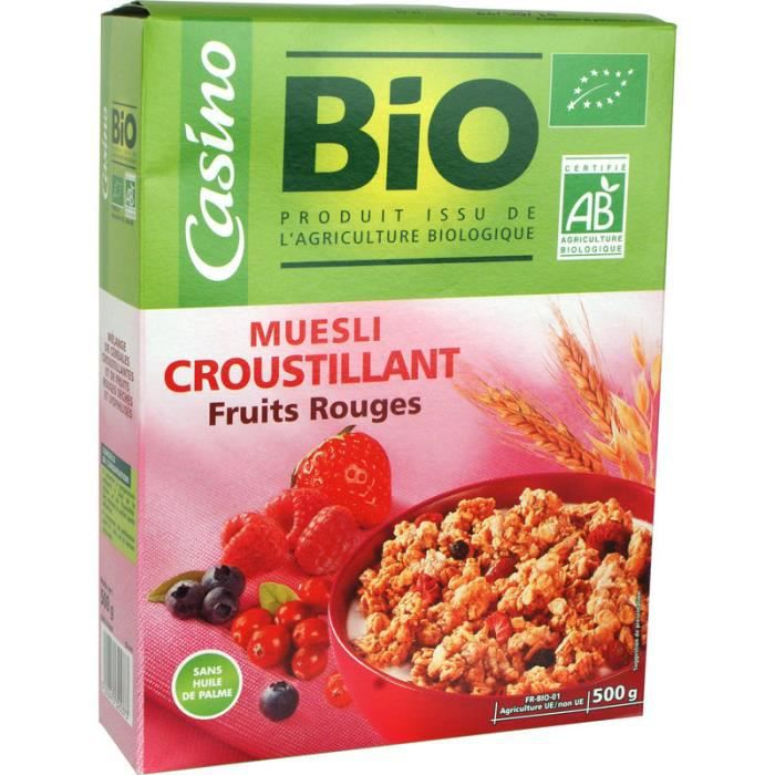 Muesli Croustillant Fruits Rouges 500 g