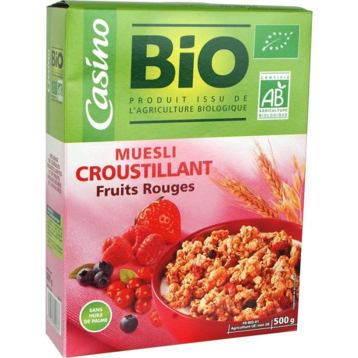 Muesli Croustillant Fruits Rouges 500 g