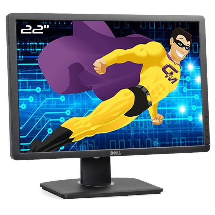 Ecran PC 22- Dell P2213t 0Y57VF Y57VF LED TFT VGA DVI-D DisplayPort USB 16:10