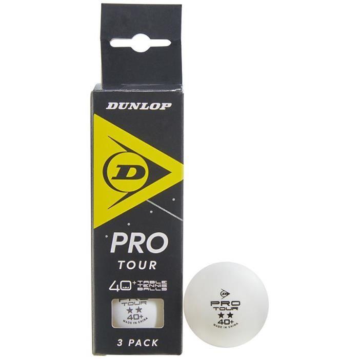 Balle de tennis de table - DUNLOP - 40+ PRO TOUR 3 BALL BOX