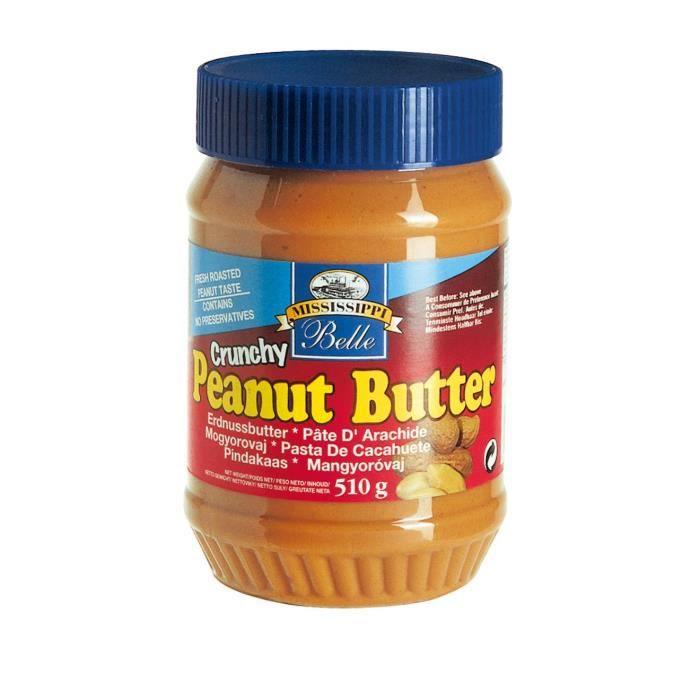 MISSISSIPI BELLE Beurre de Cacahuètes Crunchy - 510 g