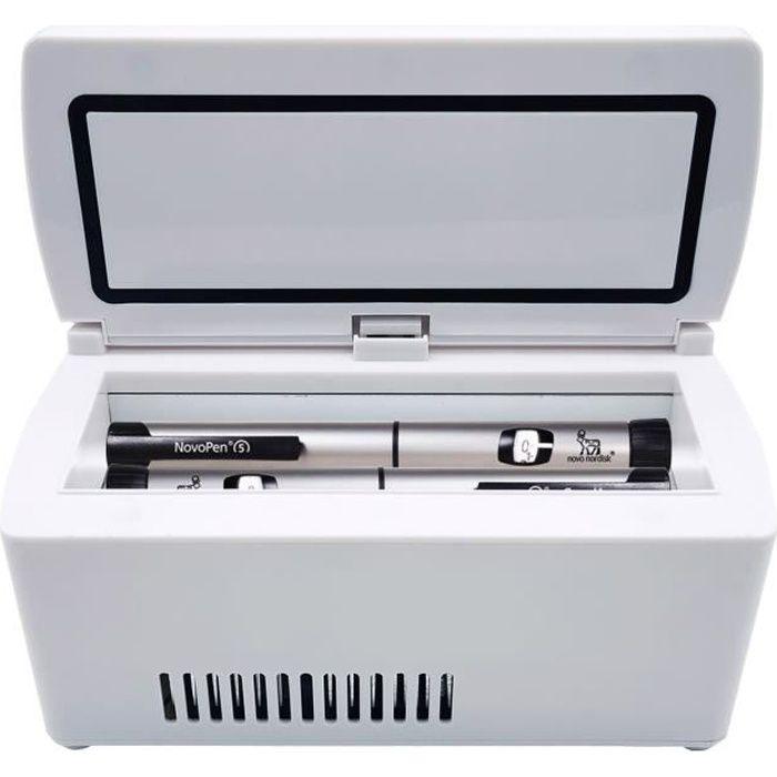 Médecine de boîte de rangement de réfrigérateur de voiture de mini incubateur portatif
