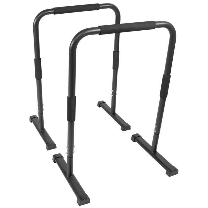 Barres parallèles Gorilla Sports - Hauteur: 94 cm - Coloris : noir