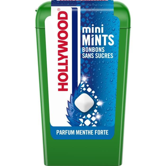 Hollywood Mini Mints Bonbons parfum Menthe Forte 12,5g
