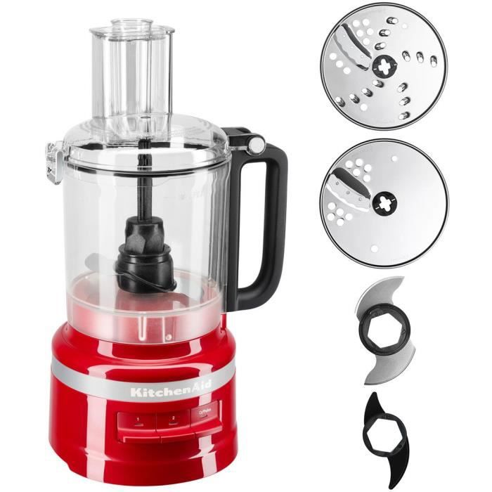 KitchenAid 5KFP0919EER, 2.1 L, Red, Buttons, 1 m, China, Plastic