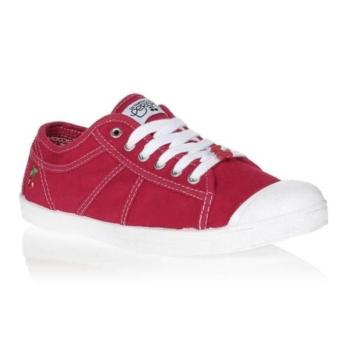 LE TEMPS DES CERISES Chaussures Basic 02 Rouge Rouge/Blanc Femme