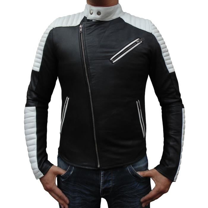 blouson cuir style moto DJORNO