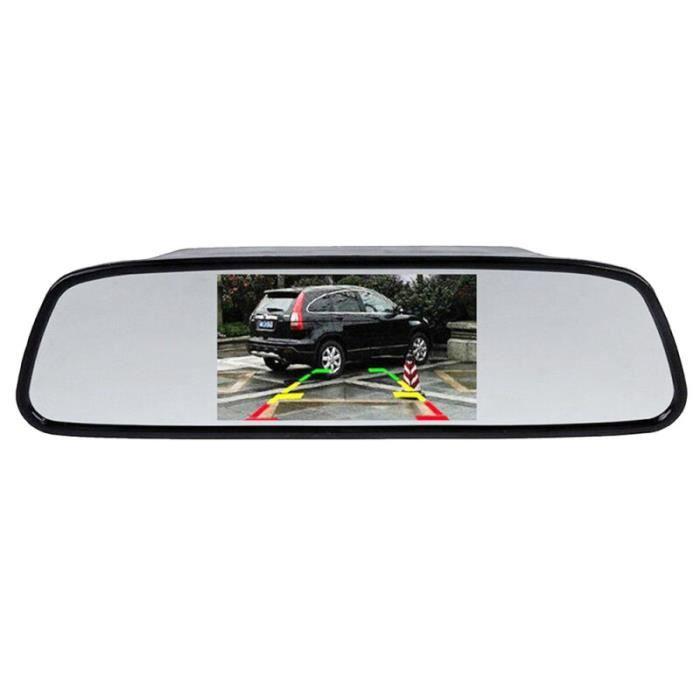 Durable 4.3 pouces 170 ° caméra rétroviseur voiture boite noire video - camera embarquee aide a la conduite - securite