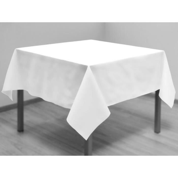 Nappe anti-tâches carrée 180x180 cm ALIX blanc.