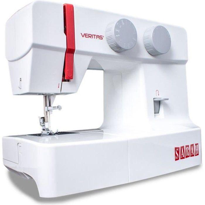 VERITAS 1301 Machine à Coudre, Plastique/métal, Blanc/Rouge, 37 x 16 x 29,5 cm