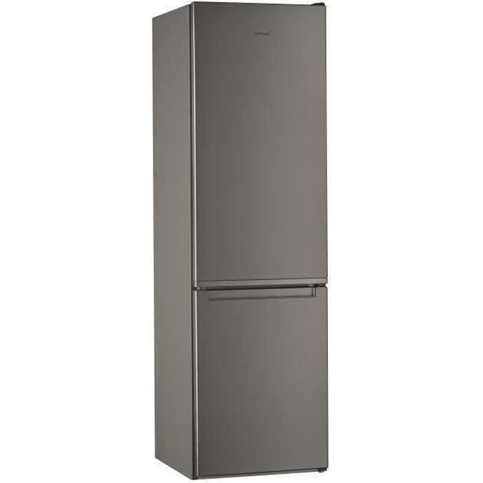 WHIRLPOOL W5911EOX - Réfrigérateur congélateur bas - 372L (261 + 111) - Froid statique - A+ - L 59,5 x H 201,1 cm - Inox