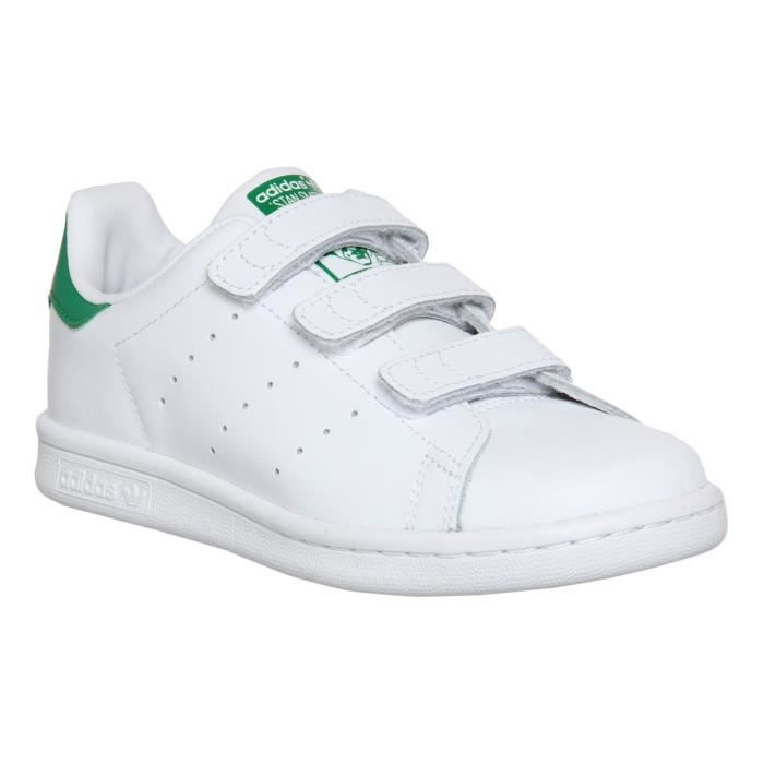 Adidas stan smith à scratch taille 44 blanc vert