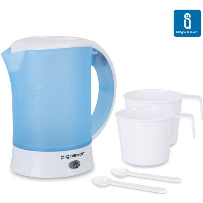 d/'eau Thé Blanc 1000 W Plastique Elta chauffe-eau 1 l wk-1000 Théière