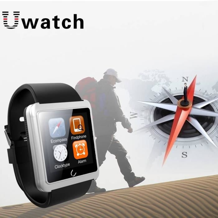uwatch u10l bluetooth smart watch montre intelligente montre connect e cran tactile avec cam ra. Black Bedroom Furniture Sets. Home Design Ideas