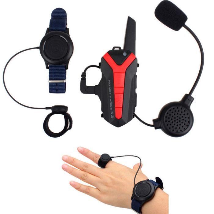 INTERCOM MOTO Casque de moto Interphone Bluetooth 1.5-3KM 8CH