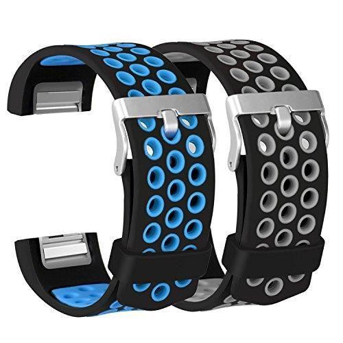 Fitbit Gris Charge Bleu De Des Hommes Pour Montre Bracelet 2 TlF1cKJ3