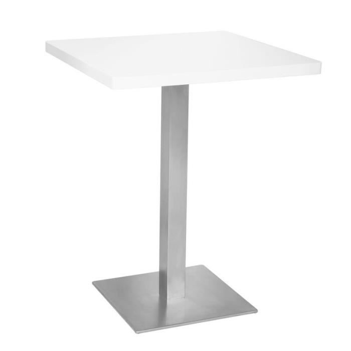 table de bar table bistrot en mdf blanc 60x60x75 myco00604 achat vente mange debout. Black Bedroom Furniture Sets. Home Design Ideas