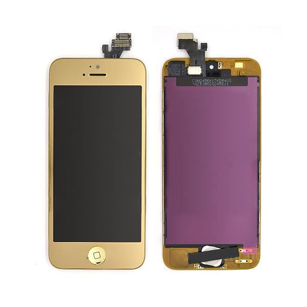 iphone 5 vitre tactile gold cran lcd incell achat pi ce t l phone pas cher avis et. Black Bedroom Furniture Sets. Home Design Ideas
