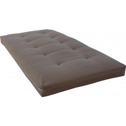 matelas futon pour lit mezzanine yael taupe achat vente futon cdiscount. Black Bedroom Furniture Sets. Home Design Ideas