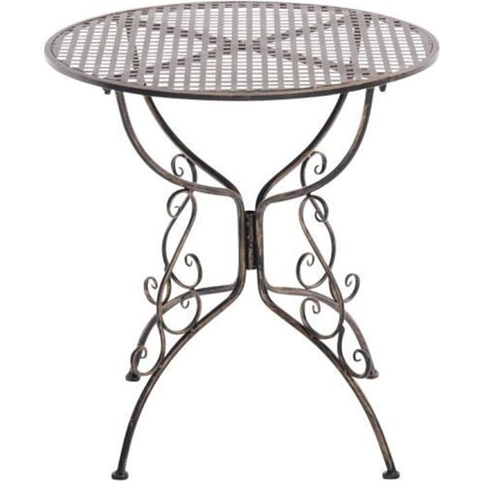 Clp table de jardin ronde en fer forg amanda faite la for Table d appoint fer forge