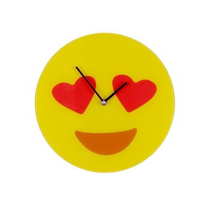 Horloge Smiley Emoticone In Love Ceour Amoureux Achat Vente Horloge Pendule Soldes Sur Cdiscount Des Le 20 Janvier Cdiscount