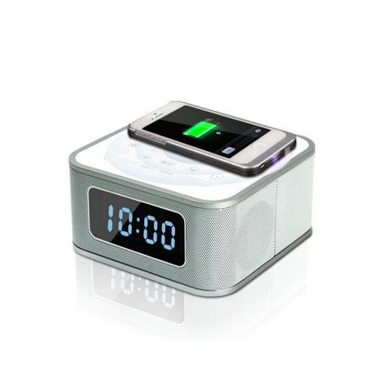 radio reveil chargeur qi sans fil hp bluetooth radio. Black Bedroom Furniture Sets. Home Design Ideas