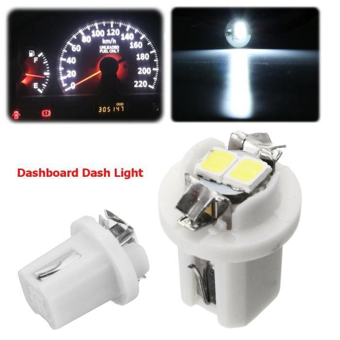 10pcs T5 B8.5D Compteur Tableau de bord Wedge Ampoule Feu Indicateur Lampe Blanc