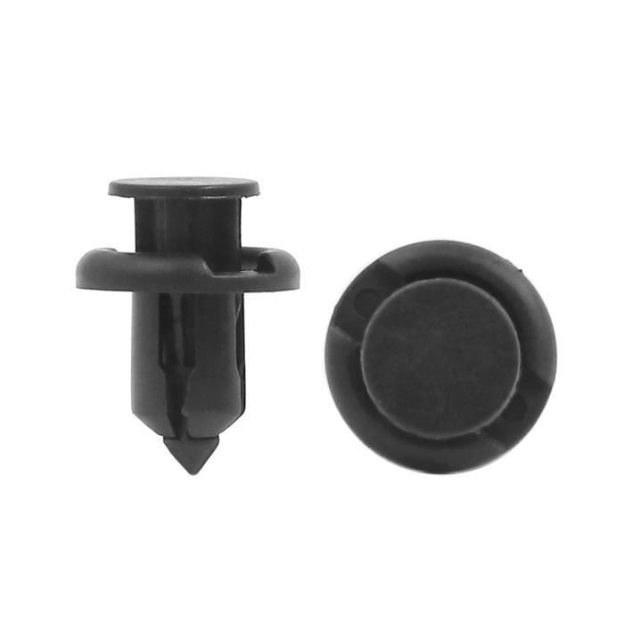 50x 10 mm Trou Plastique Voiture Cage Push Pin Fit Rivet Attaches TRIM CLIPS PANNEAU