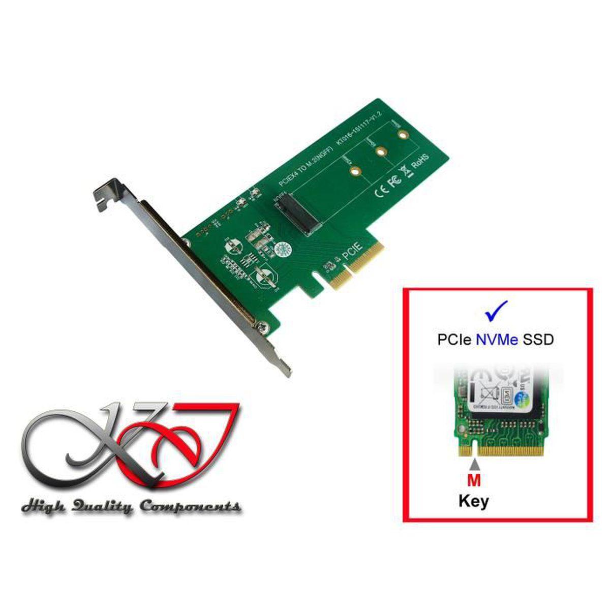CARTE CONTROLEUR Carte Controleur PCIe pour SSD M.2 PCIe - Pour M2