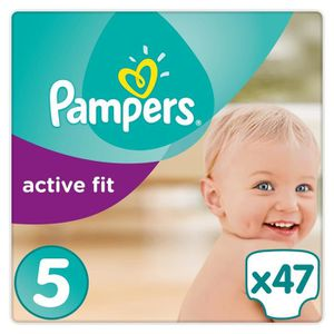 COUCHE PAMPERS Active Fit Taille 5 - 11 à 25 kg - 47 couc
