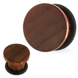 20 mm Bois Oreille Tunnel Brun Rouge Nature Plug Organic PIERCING WOOD Plugs Paire 8 mm