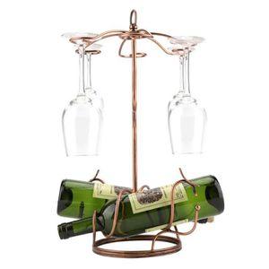 PORTE-VERRE Support-verres à Vin en Métal Suspendu Étagère à R