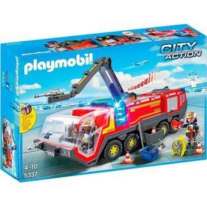 UNIVERS MINIATURE PLAYMOBIL 5337 - City Action - Pompier avec Véhicu
