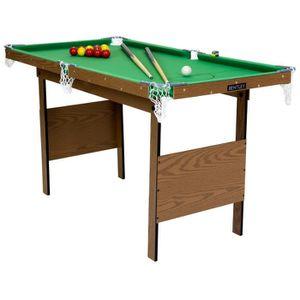 BILLARD Table de snooker/billard avec billes - vert - 122