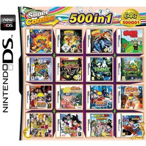 JEU 3DS 500 Games in 1 NDS Game Pack Card Super Combo Cart