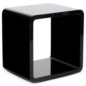 CASIER POUR MEUBLE Cube de rangement 'KUBIC' noir empilable